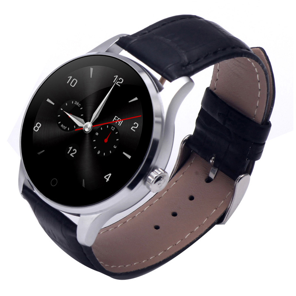 Fashion Round Screen Smart Watch for IOS Huawei Android Phone Bluetooth Smartwatch K88 with Heart Rate Monitor Pedometer Dialing lemfo lem5 android 5 1 smart watch phone 1gb 8gb heart rate monitor pedometer google map smartwatch bluetooth for ios android