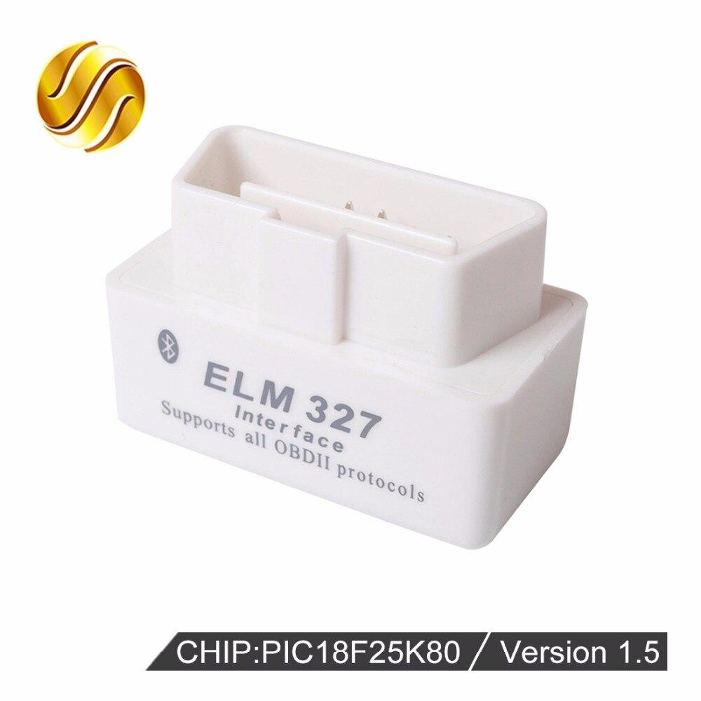 VIECAR V1.5 Super MINI ELM327 Bluetooth OBD2/OBDII ELM 327 Versione 1.5 Bianco Auto Interfaccia Scanner Diagnostico