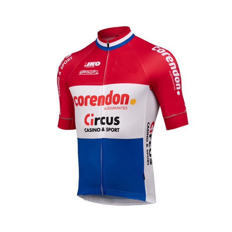 Cycling-Jersey Short-Sleeve Circus-Team CORENDON Ropa-Ciclismo SUMMER WITH Power-Band-Size