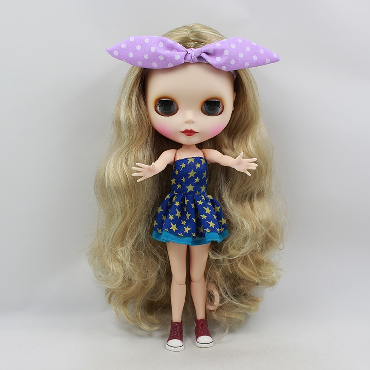 Neo Blythe Doll with Blonde Hair, White Skin, Matte Face & Jointed Body 5