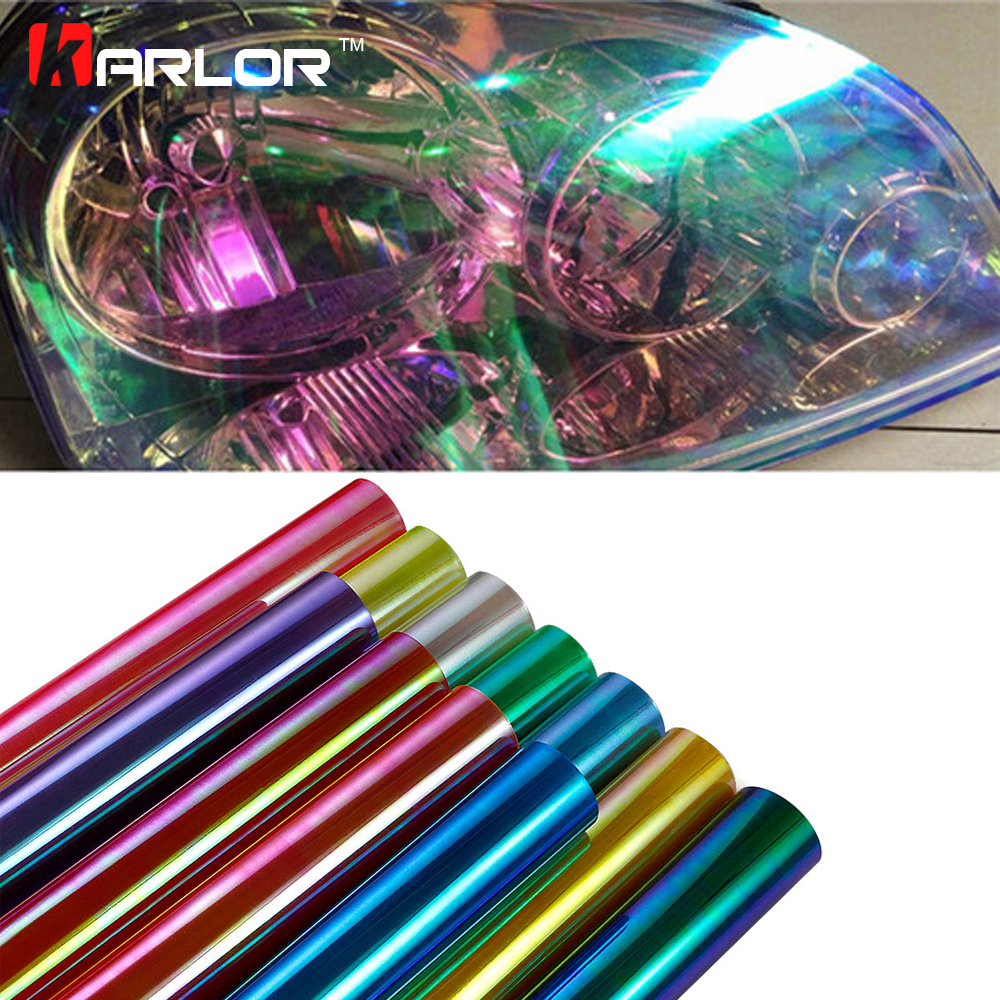 30cm*100cm Auto Car Light Chameleon Tint Headlight Taillight Fog Light Vinyl Film Sheet Sticker Cover Car Styling Accessories