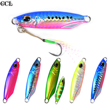 Long Casting Metal Lead Fishing Lures 20g 30g Bait Shore Jigging for Seawater