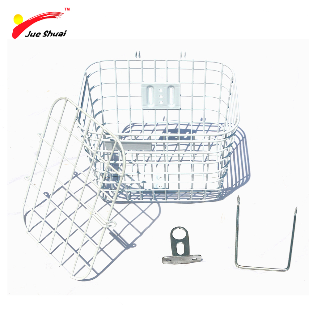 Bike Bicycle Basket with Holder Cover Lid Large Capacity Steel Mesh Bottom Lift Off Basket Bag Riding Cycling Accessories exerpeutic 1000 magnetic hig capacity recumbent exercise bike for seniors