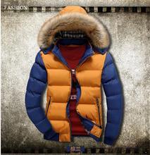 Brand New Fashion 2016 Winter Jacket Men Batik fabricWarm Casual Parka Men padded Winter Jacket Casual Handsome  Winter Coat