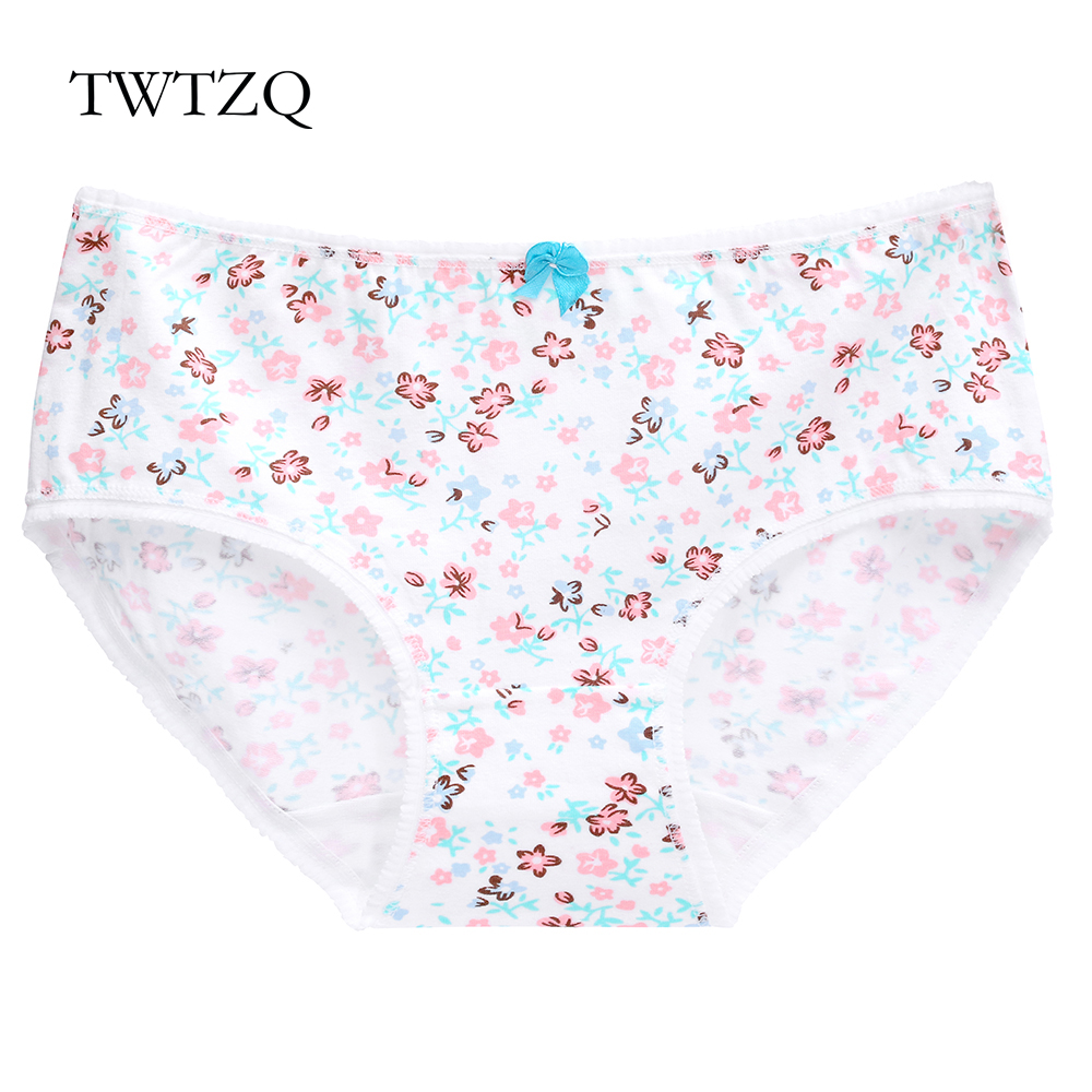 Twtzq New Cow Cloud Briefs Underwear Women Cotton Cute Girl Panties Sexy Slimming Bamboo Lace Celana Dalam Hot Breathable Intimates Flower Bowknot Lingerie Female