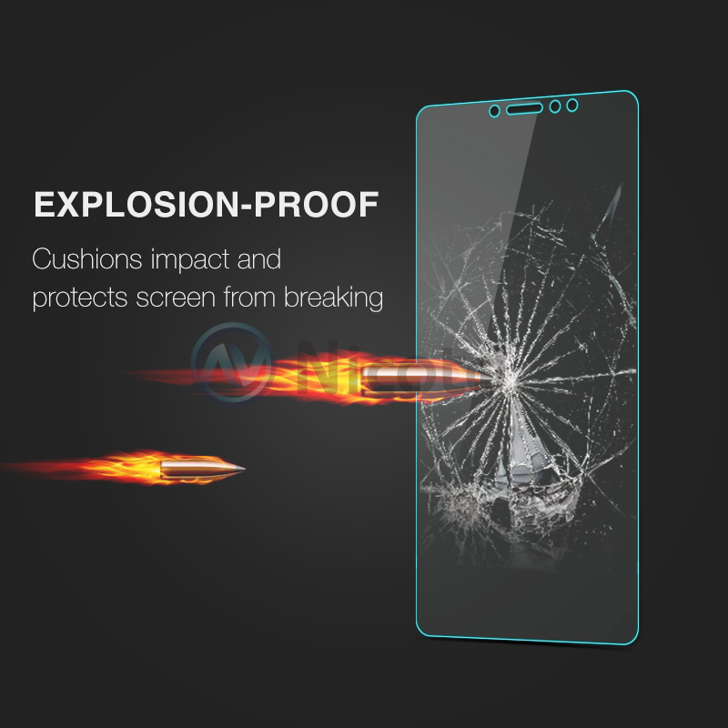Image 5 - Nicotd Tempered Glass For Xiaomi Mi MAX 3 Screen Protector 9H 2.5D Phone On Protective Glass For Xiaomi Mi MAX 2 1 mimax film-in Phone Screen Protectors from Cellphones & Telecommunications