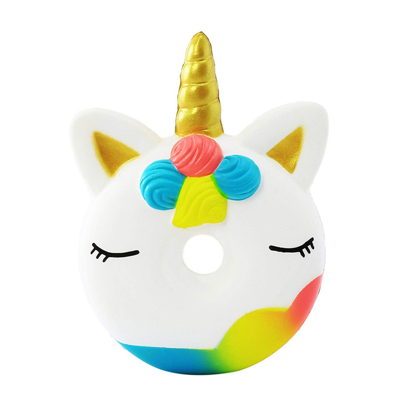 Explosive squishy Unicorn doughnut slow rebound toy PU foam vent decompression craft boy best gift