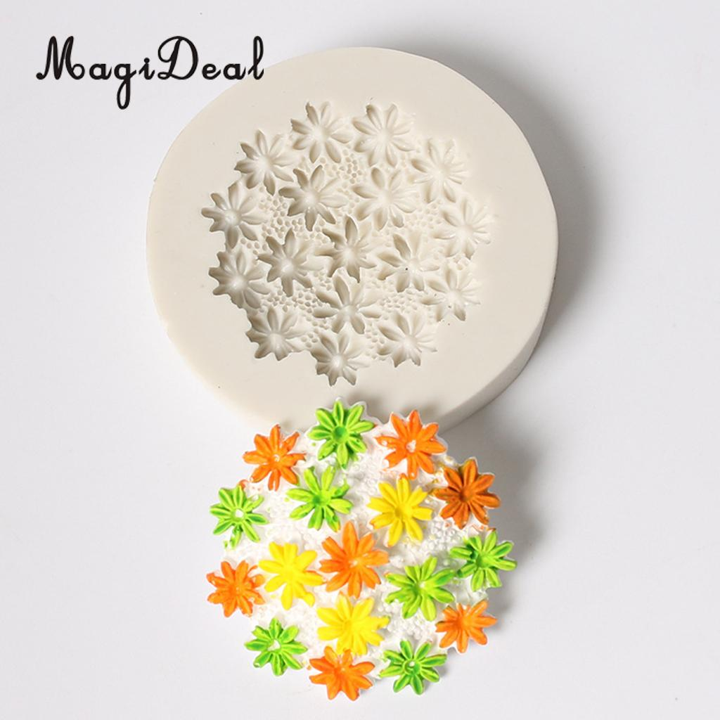 3D Chrysanthemum Craft Dessert Mousse Cake Mould Cooking Decoration Sugarcraft,Premium Food Grade Silica Gel,BPA Free