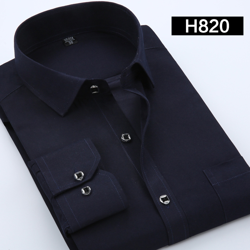 Men shirt 2017 New spring fashion solid shirts men slim fit long-sleeved cotton Business dress shirts for men chemise homme 8025