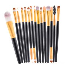 pro 15 pcs/Sets Make Up Brush Set Eye Shadow Foundation Eyebrow Lip Brush Makeup Brushes Tools Cosmetic Kits for makeup