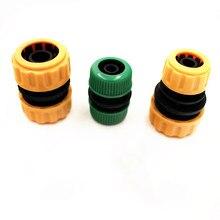 "1PC 1/2"" 3/4"" Plastic Hose Joiner Repairer Hose Fitting Connector Joiners Repairers Hose End Fittings Watering Water Gun"