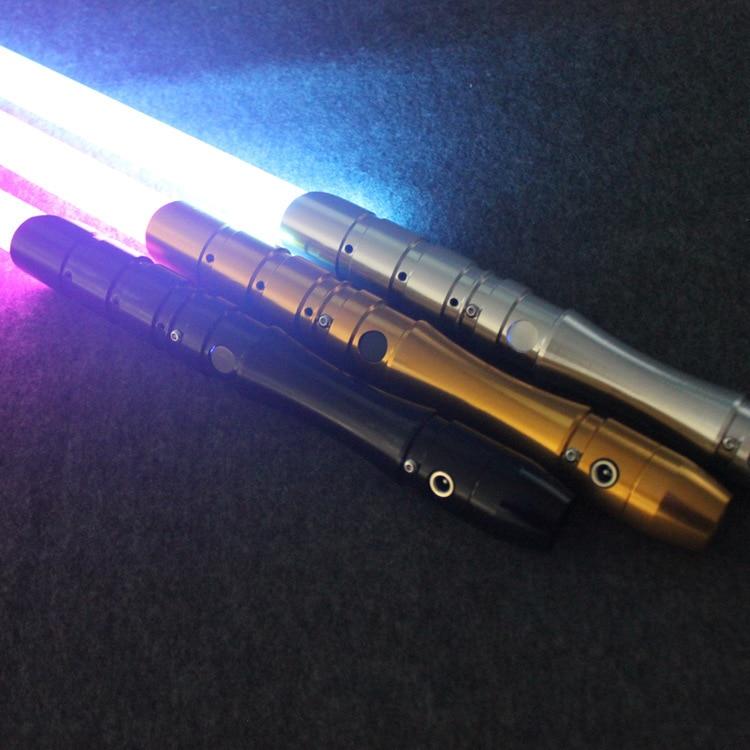 16 di colore Spada Laser Metallo Spada Laser RGB Cosplay di Boy Gril Giocattolo Luminoso Regalo Dei Capretti Luce Esterna Creativo Wars Giocattoli Bastone sciabola - 2