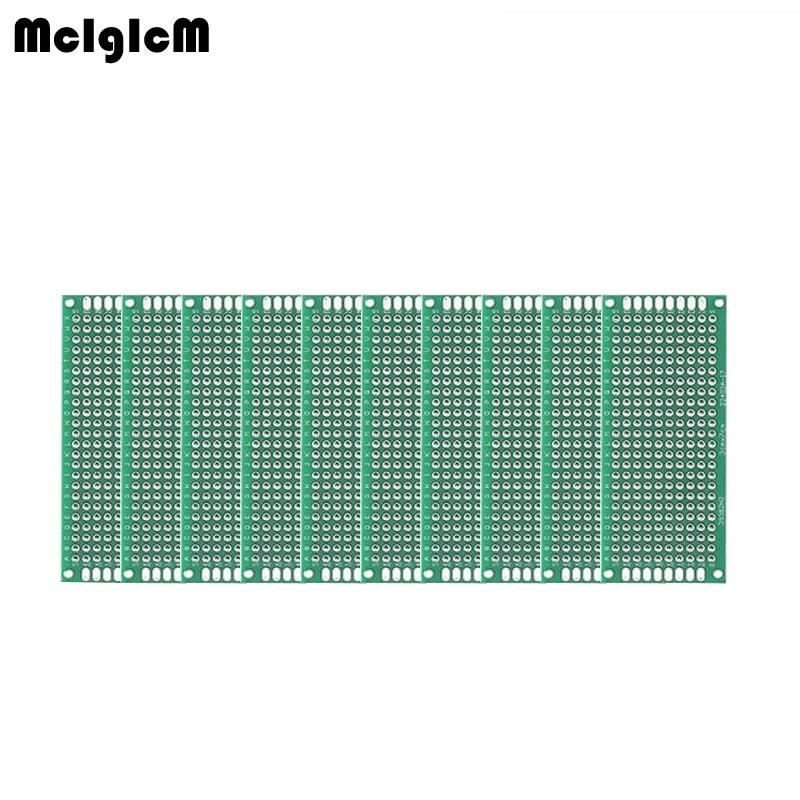 MCIGICM 200pcs Double Side Prototype PCB diy Universal Printed Circuit Board 3x7cm