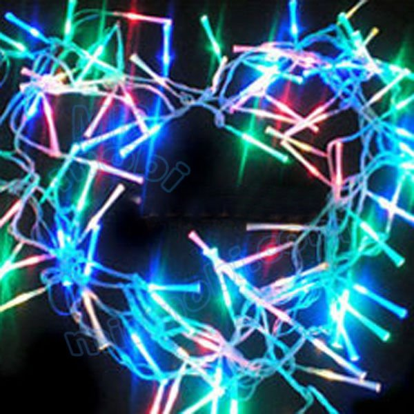 Wholesale 5pc/lot 220V Optical fiber RGB LED Christmas lights, 10 m-100 string LED colorful Christmas string lamps KF-356