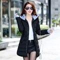 Женский зимняя куртка пальто 2016 новых Женщин вниз куртки Корейский стиль моды тонкий капюшоном вниз мягкий куртка теплая оптовая JT472