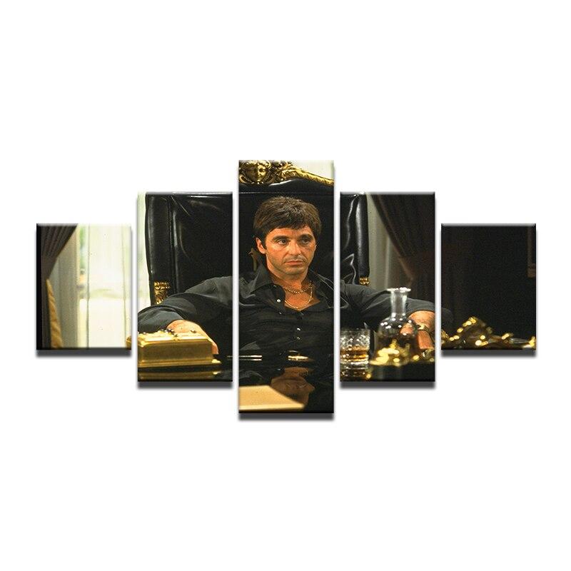 5 Pieces Art Movie Star Al Pacino Pacino in Tony Montana Scarface ...