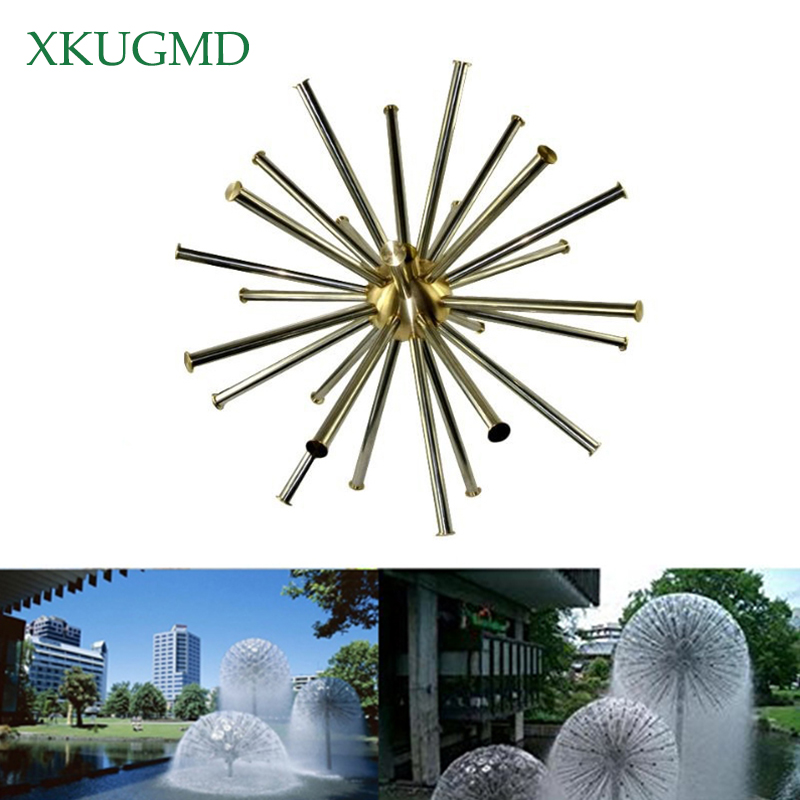 "Brass 1"" DN25 Hemisphere Dandelion Peacock Tail Crystal Ball Fountain Nozzle Water Feature Spray Pond"