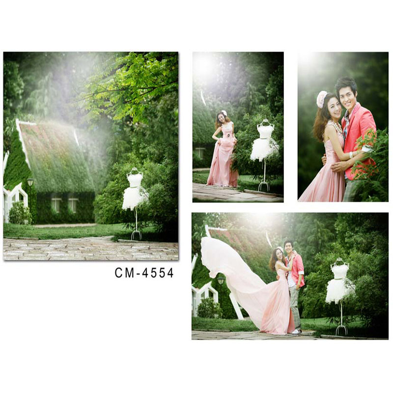 Wedding Photography Background Photo Booth Backdrops Photocall for Weddings Sunny Woods House White Dress