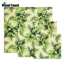 Визуальный контакт тропический пальмовый лист пчелиный воск обертка s многоразовый пчелиный воск пищевая обертка s для сэндвич фруктовый сыр хлеб закуски оберточная пленка