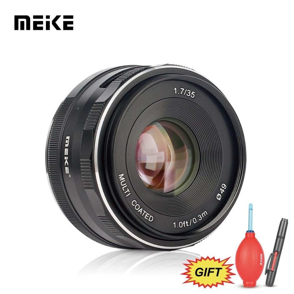 MEKE Meike 35mm f1.7 APS-C Large Aperture Manual Focus Lens For Fuji Mirrorless cameras XT1/T10 X-M1/X-Pro1/Pro2/X-A1/A2/XE1/E2 vocabulario elemental a1 a2 2cd