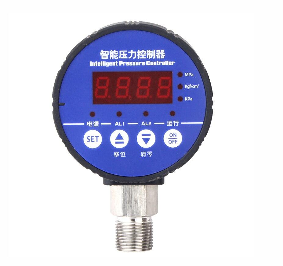 Digital Pressure Switch Controller Negative Pressure to Positive Pressure DC24V Pressure Range Customized