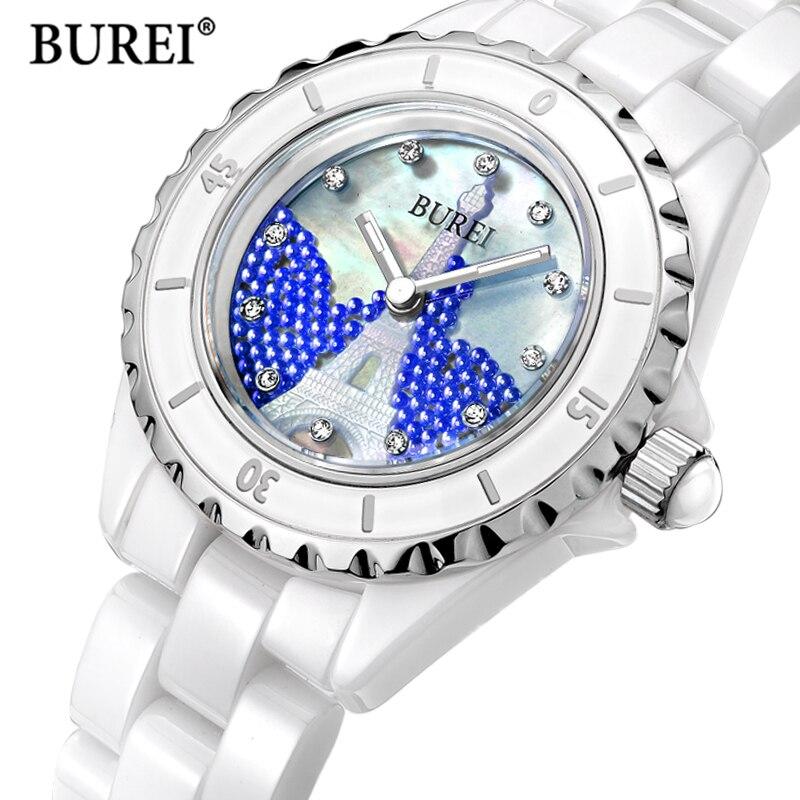 Relogio feminino Элитный бренд Для женщин Часы Для женщин модные Керамика кварцевые наручные часы женские часов 2017 Saat Reloj Mujer