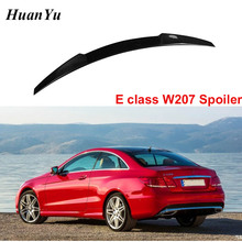 New W207 CS Style Trunk Spoiler for Mercedes-benz E Class Carbon Fiber Boot Lip Rear Duck Wings 2-door Coupe Cabriolet 2010-2016