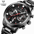 CADISEN Watch Men Luxury Brand Stainless Steel sports men watch With luminous waterproof quartz-watch relogio masculino