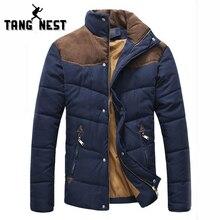 TANGNEST/2017 г. Лидер продаж Модные Повседневное зимние пальто удобная куртка два Цвета плюс Размеры XXXL оптовая продажа MWM169