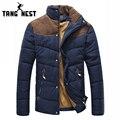 Tangnest 2017 venda quente da moda casual outwear inverno do revestimento do revestimento confortável duas cores plus size xxxl atacado mwm169