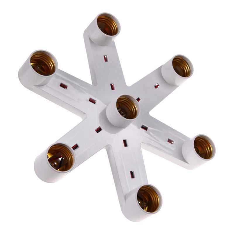 От 1 года до 7 e27 лампа держатель E27 гнездо Базовая Светодиодная лампа легкая розетка разделитель ламп держатель конвертер