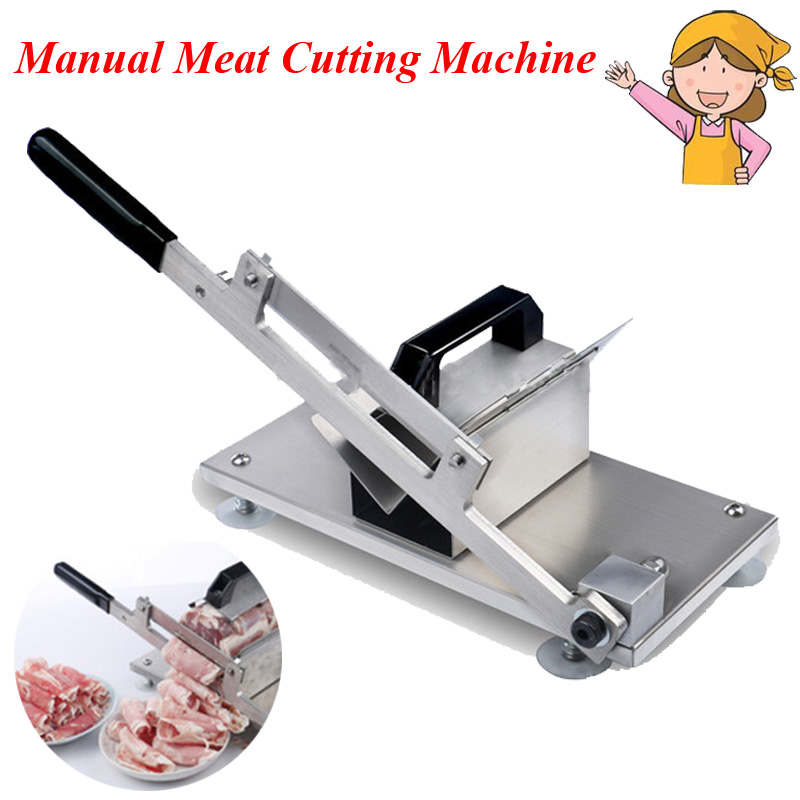1pc Meat Cutting Slicer Mutton Roll Stainless Steel Beef Meat Processor Cutter with English Manual ST-200 1pc manual meat cutting machine household mutton roll slicer food processor stall fed meat slicer