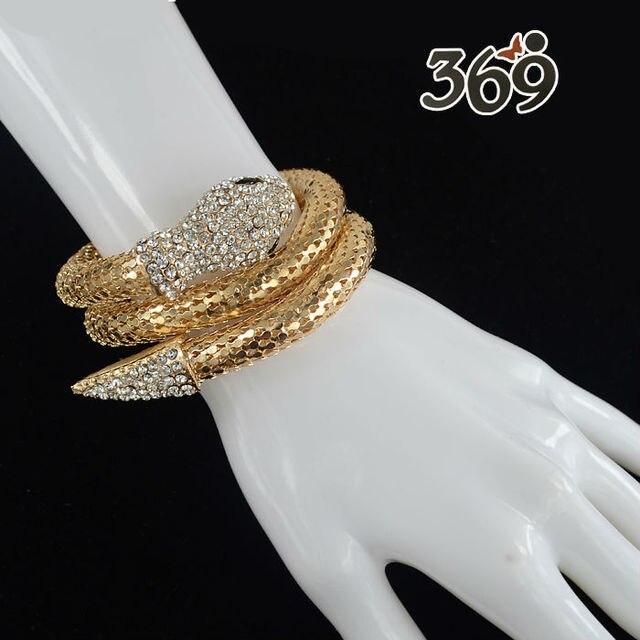 2013 wholesale snake with crystal stone street style Bracelet