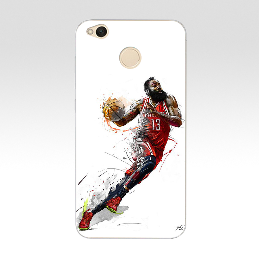22DF Basketball Russell Westbrook Curry Harden James Kobe Transparent Cover Case For Xiaomi Redmi 5 6 Note 5 Pro Mi5 Mi8 Se S2