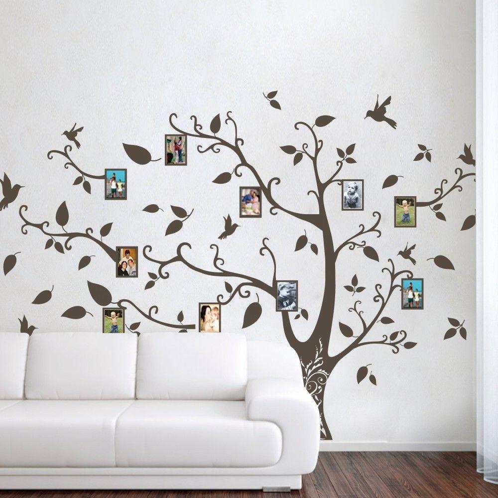 Family Tree Removable Wall Sticker Vinyl Decal Home Decor: Family Memory Of Tree Bird Wall Sticker Photo Frame Vinyl