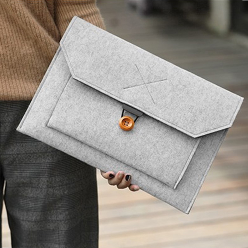 New Wool Felt Sleeve Laptop Bag 14 15.6 Inch For Macbook Air Pro 13 Retina 11 12 15 Cover For Lenovo Xiaomi Air 12.5 13.3 Bags