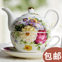christmas Hot pot cup teapot picture rose wedding gift suit European Ceramic Teapot Tea