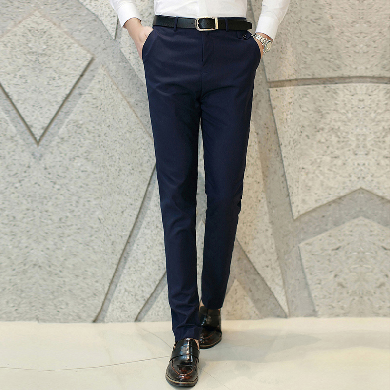 Mens Trousers Business Pants Stylish Mens Slacks Pants Smooth Formal Business Dress Pant Trousers 0426