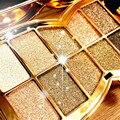 10 cores de flash diamante sombra nude paleta de maquiagem à prova d' água luminosa brilho cosméticos ferramentas de maquiagem dos olhos