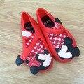 Lindo niños niñas sandalias de playa mickey minnie mini melissa shoes bebé niños calzado olor caramelo shoes 10 par/lote venta al por mayor