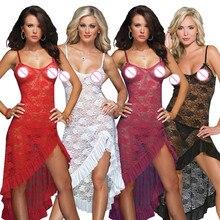 купить 2018 new women sexy lingerie hot plus size 4XL 5XL 6XL erotic lingerie transparent lace babydoll sexy costumes sexy underwear по цене 776.36 рублей