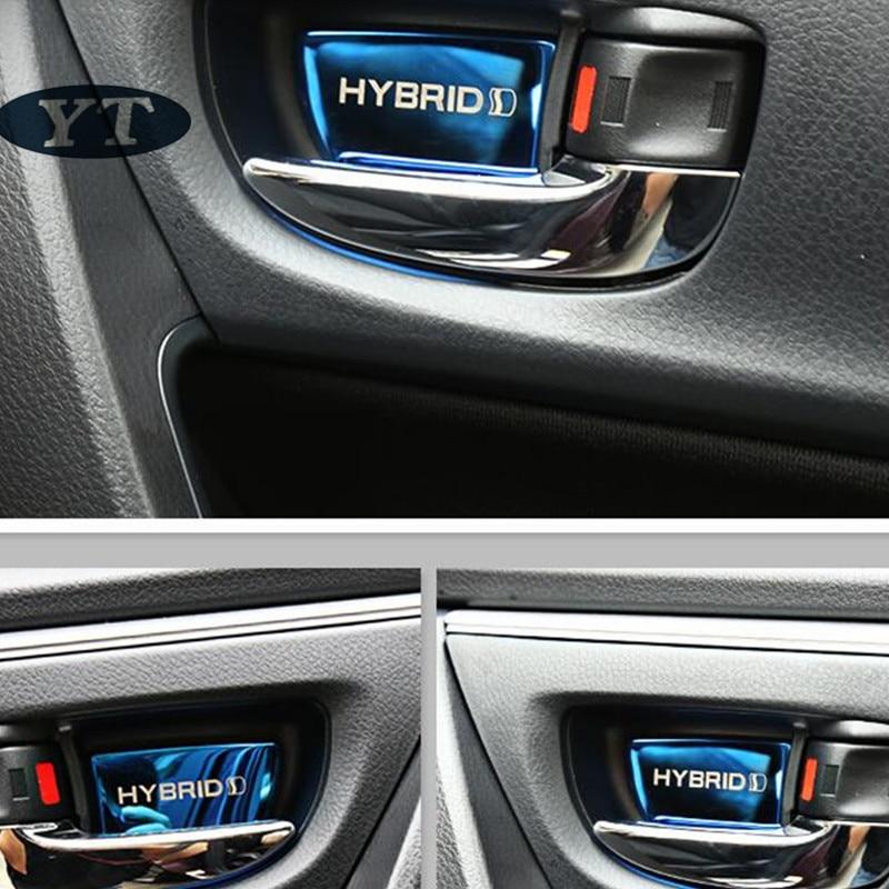 Image 3 - Авто Дверь внутренняя чаша наклейка Интерьер Литье для toyota Corolla auris 2014 2018, 4 шт./лот, автомобильные аксессуары-in Наклейки на автомобиль from Автомобили и мотоциклы