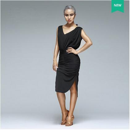 Aliexpress.com  Comprar Nuevo estilo de trajes de baile Latino superior de  seda de hielo sexy malla vestido de baile latino de manga larga para las  mujeres ... b14fe3a487c