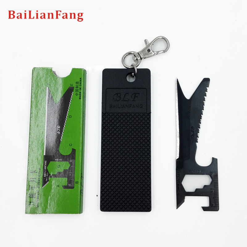 50pcs/lots BaiLianFang multi knife card three methods for using seven kinds of function knife key wallet survival hand tool shyam kumar mishra antimicrobial drug resistance in lower respiratory tract infection