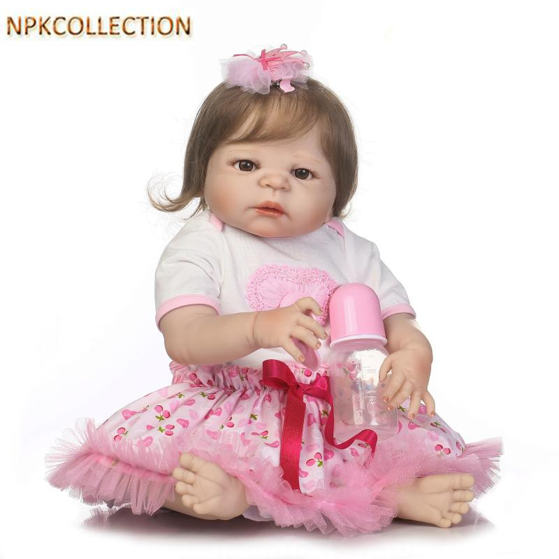 NPKCOLLECTION 55CM Reborn Babies Girl Bonecas Silicone Reborn Dolls,21 Inch Full Silicone Dolls Reborn Baby Alive Doll for Kids [cheneng]mean well original rsp 100 48 48v 2 1a meanwell rsp 100 48v 100 8w single output with pfc function power supply