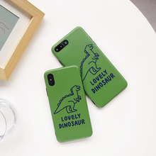 Cute Dinosaur Hard Case for iPhone XS MAX XR X 6 Plus 6S 7 8 plus Matte Cover For