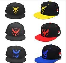 HOT snap back hats juego Pokemon Go snapback gorra de béisbol casquette  Valor Mystic Instinct hip hop hombre mujeres 5abef884613