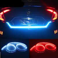120cm 150cm LED Dynamische Streamer Blau & Rot & Gelb Blinker Schwanz Box Stamm Lichter Gepäck Fach tailgate LED Warnung LAMPE