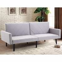 Giantex Futon Sofa Bed Convertible Recliner Couch Splitback Sleeper With Wood Legs Modern Living Room Furniture