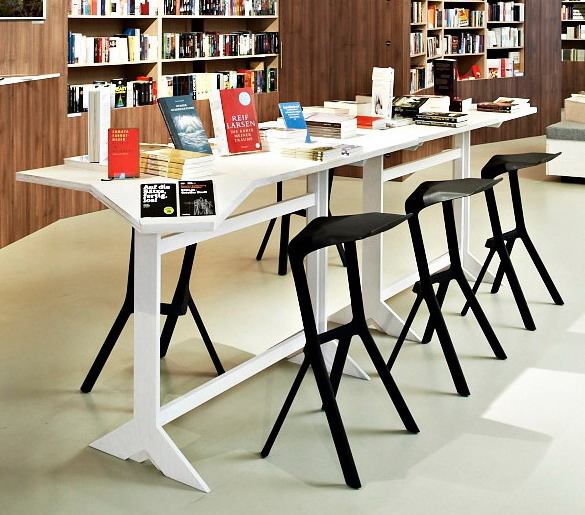Minimalist Modern Design Plastic Stackable Miura Bar Stool Popular Bar  Chair Kitchen Room Counter Stool Drinking Bar Stool 2PCS In Bar Chairs From  Furniture ...